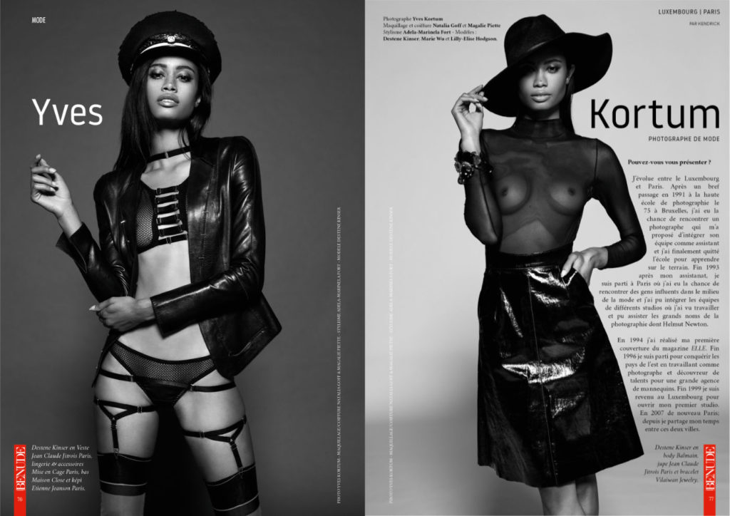 le photographe Yves Kortum dans le magazine Benude