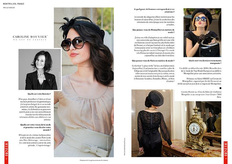 BENUDE magazine Caroline Bouvier Montpellier
