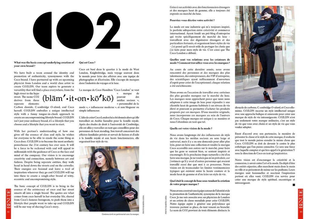 BENUDE magazine Coco Hamilton CO magazine