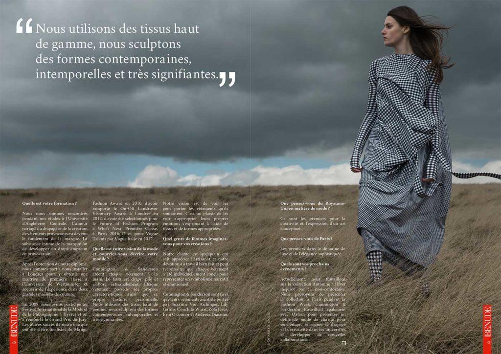 BENUDE magazine Cunnington Sunderson
