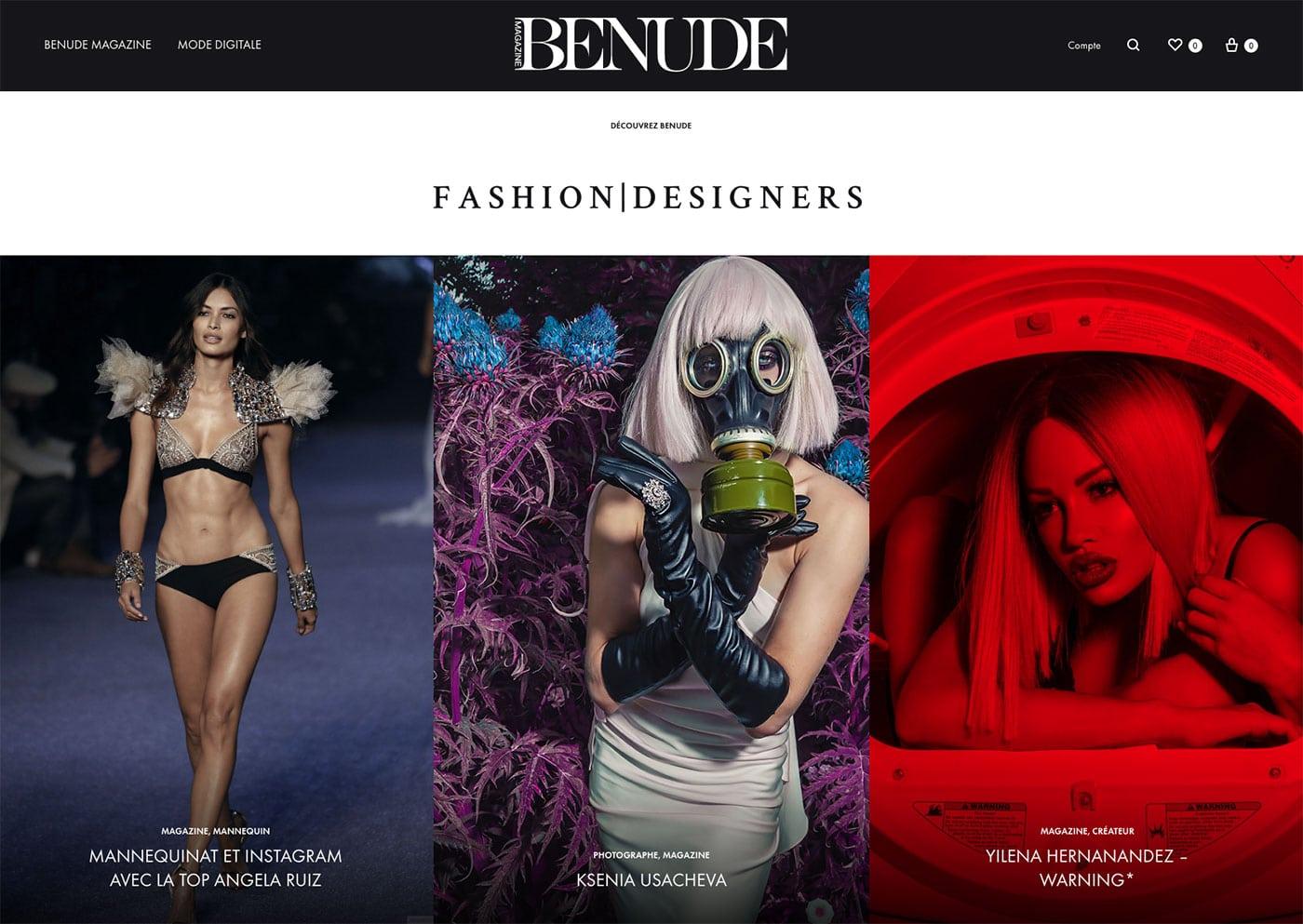 BENUDE magazine cover Angela Ruiz Ksenia Usacheva Yilena Hernandez