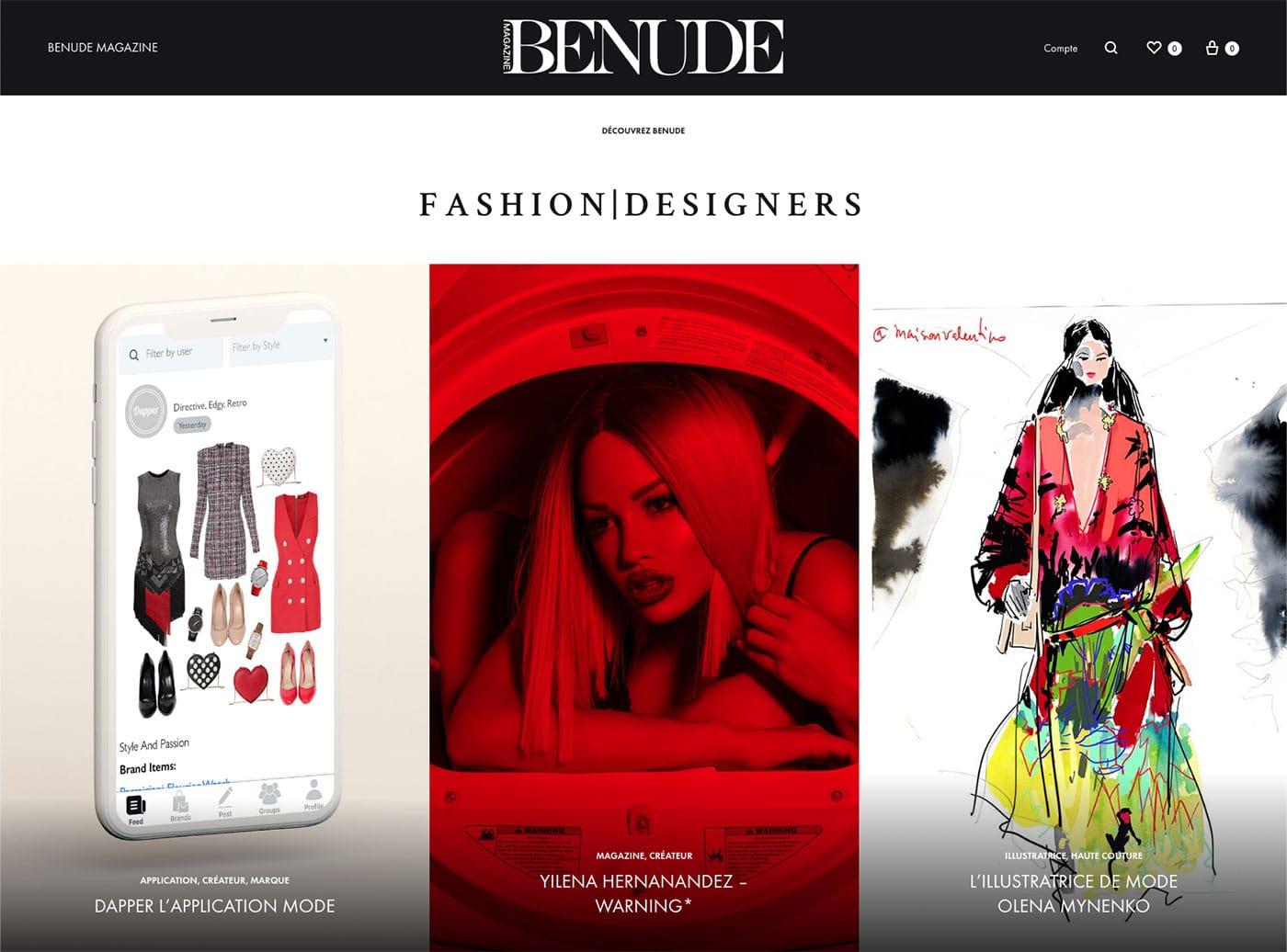 BENUDE magazine cover Dapper application Yilena Hernandez Olena Mynenko