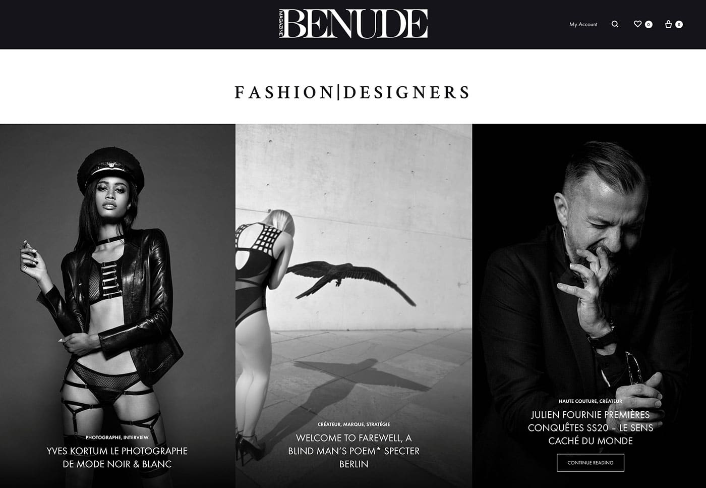 BENUDE magazine cover Yves Kortum Specter Berlin Julien Fournier
