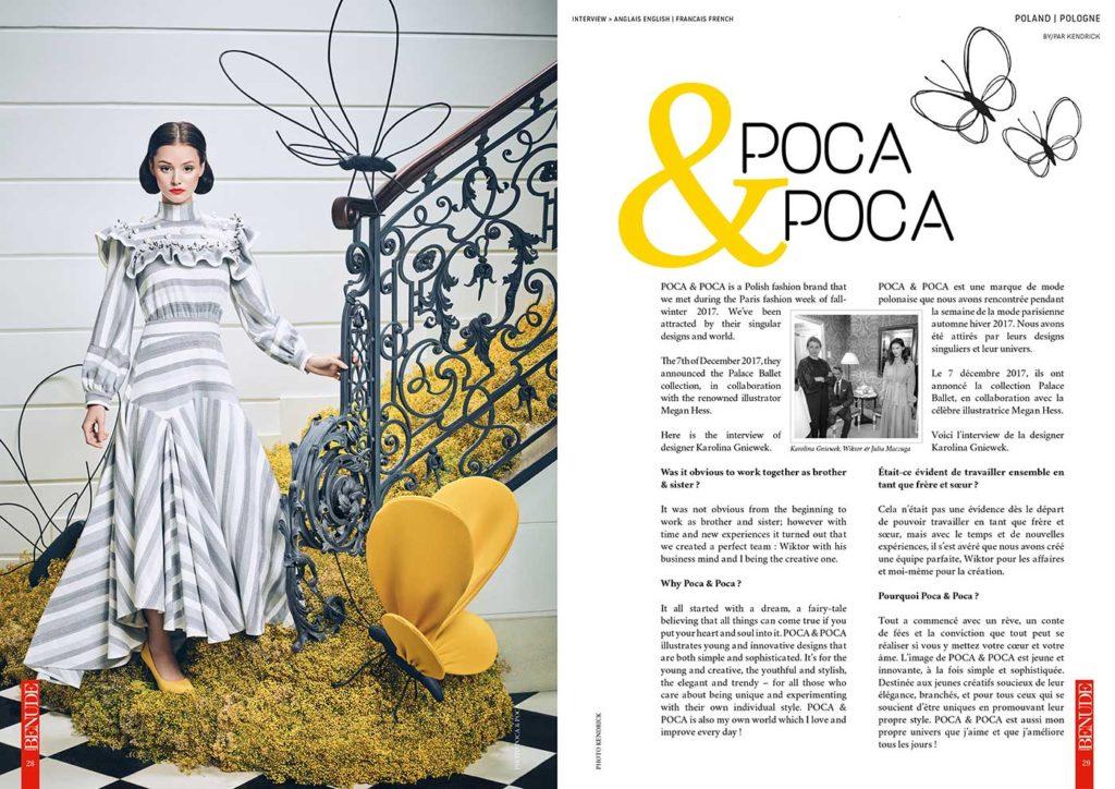 BENUDE magazine Poca Poca Megan Hess