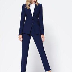 MADELEINE Pantalon femme bleu nuit / bleu