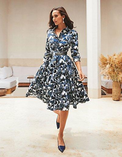 MADELEINE Robe femme marine/multicolore / bleu