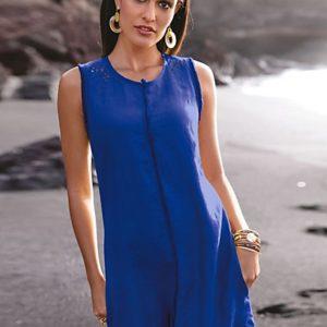 MADELEINE Robe femme royal / bleu