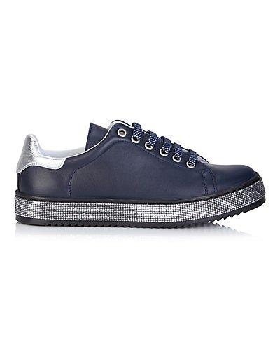 MADELEINE Sneakers femme bleu foncé/argenté / bleu