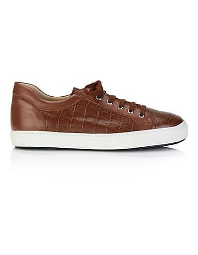 MADELEINE Sneakers femme cognac / marron
