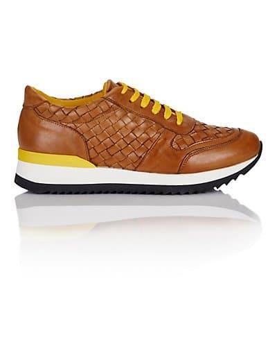 MADELEINE Sneakers femme cognac/jaune / beige