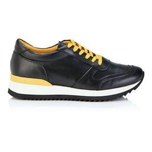 MADELEINE Sneakers femme noir/curry / jaune