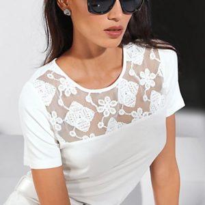 MADELEINE T-shirt femme blanc cassé / blanc