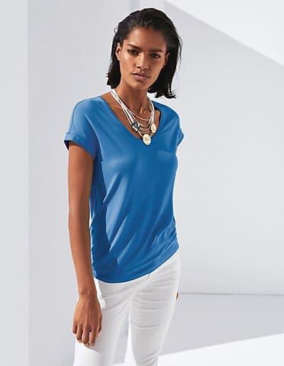MADELEINE T-shirt femme bleu