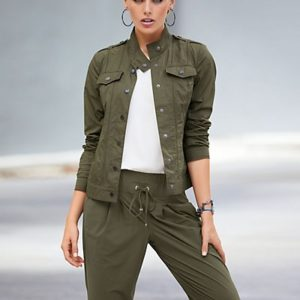 MADELEINE Veste femme roseau / vert