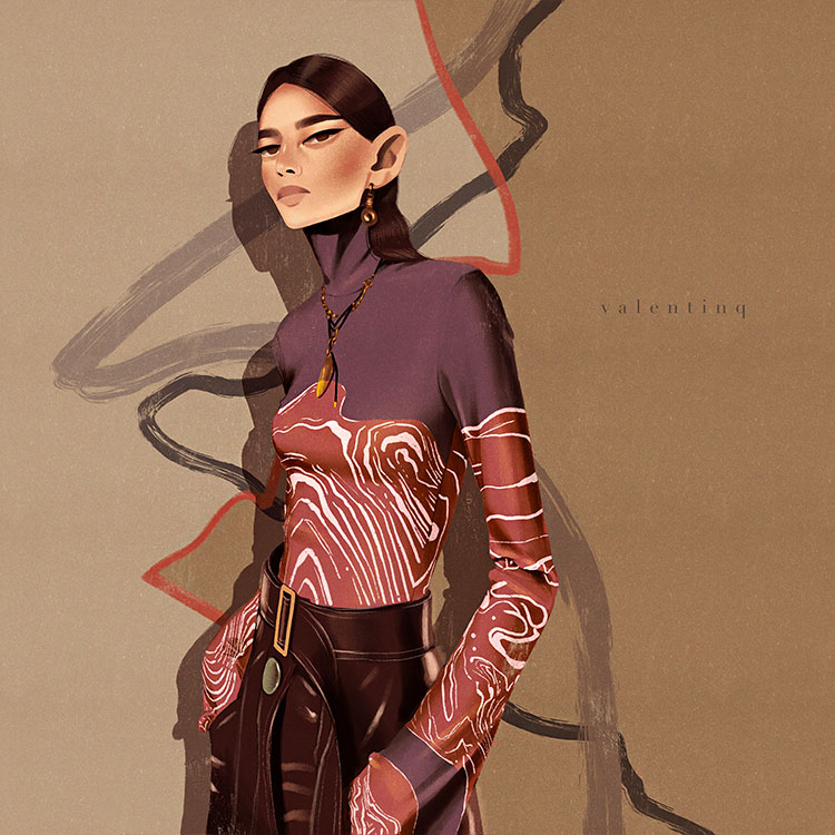 benude magazine valentina battaglia illustratrice mode italie