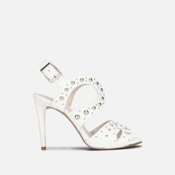 Baldwin Stud Leather Stiletto Sandal