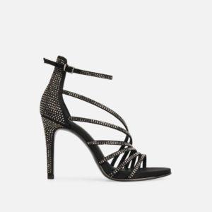 Barletta Rhinestone Strappy Stiletto Sandal