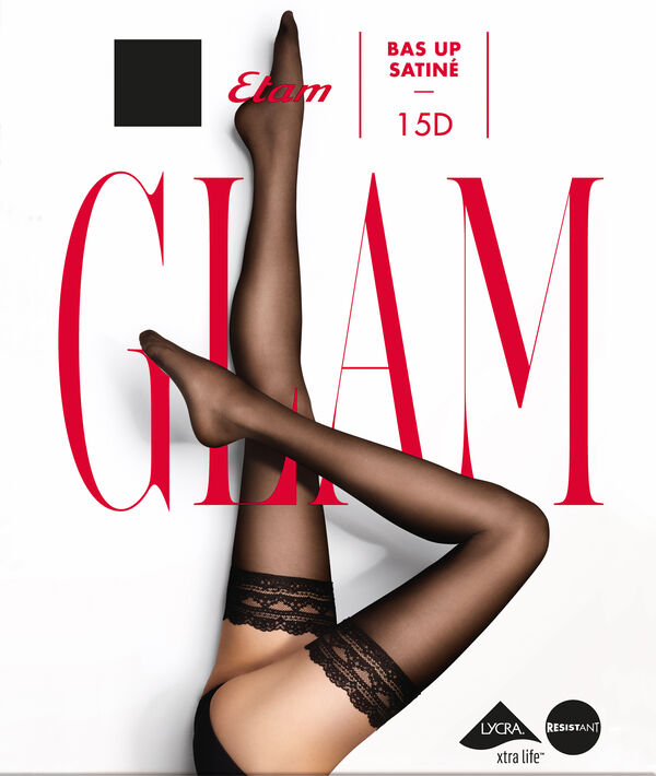 Bas up effet satiné - SATINE BAS UP - M - Noir - Femme - Etam