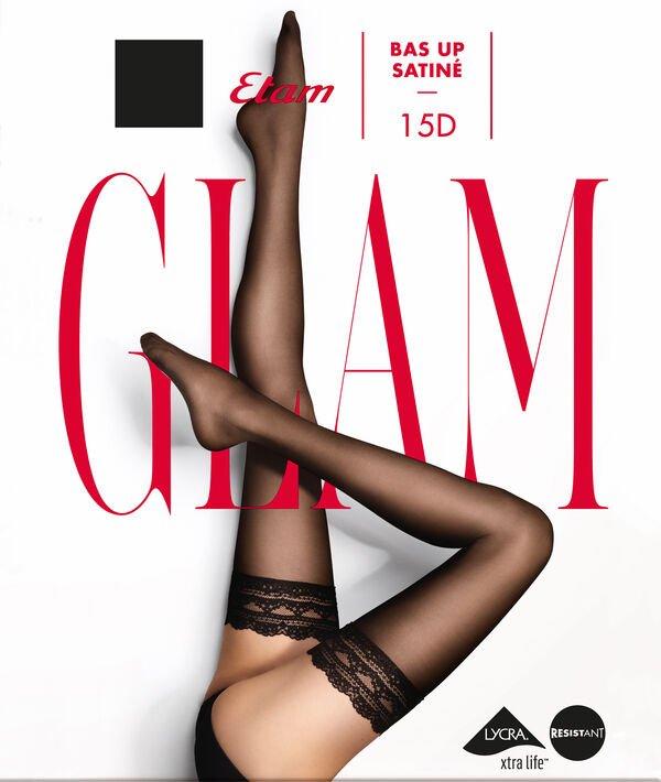 Bas up effet satiné - SATINE BAS UP - S - Noir - Femme - Etam