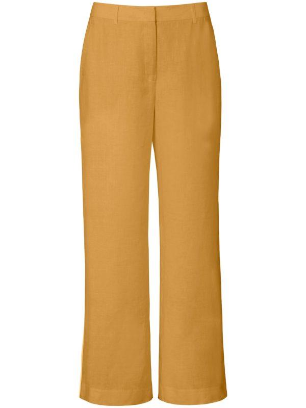 Le pantalon 100% lin coupe Cornelia Peter Hahn jaune taille 38