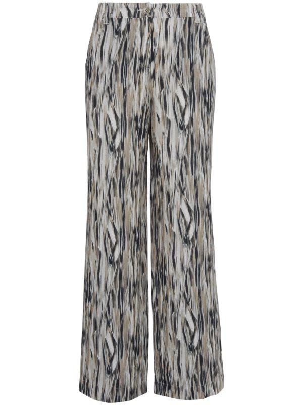 Le pantalon 100% lin coupe Cornelia Peter Hahn multicolore taille 20