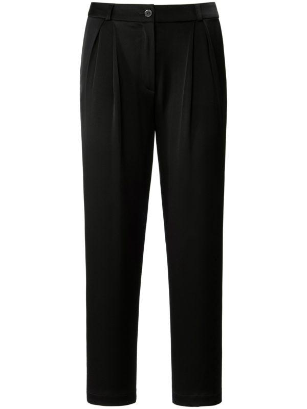 Le pantalon 7/8 à pli creux devant Laura Biagiotti Roma noir taille 38