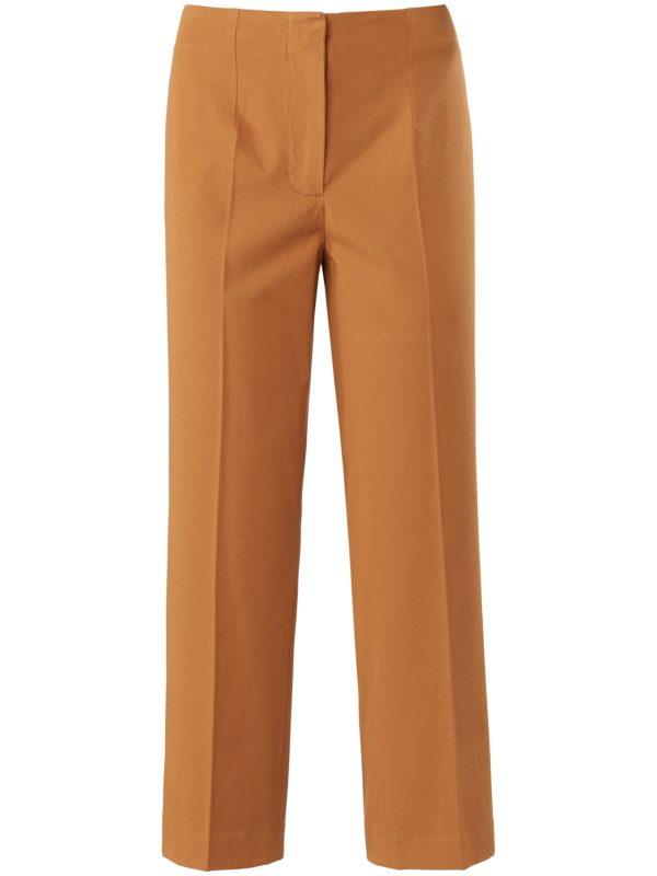 Le pantalon 7/8 coupe Barbara Peter Hahn marron taille 42