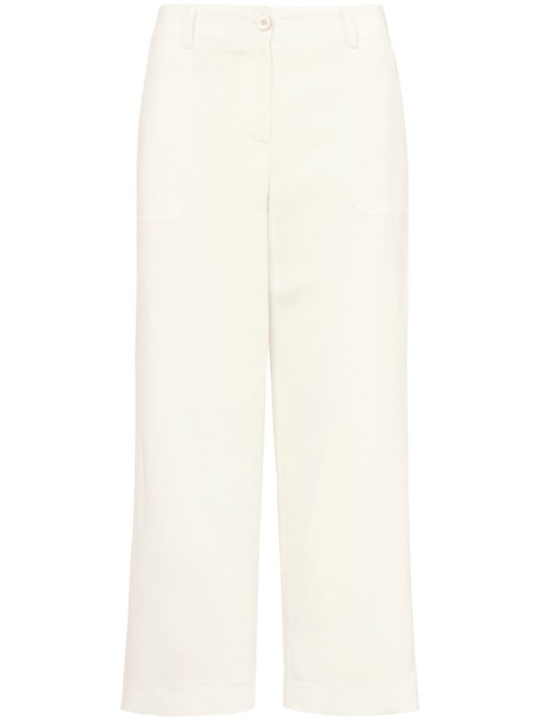 Le pantalon 7/8 coupe Cornelia Peter Hahn blanc taille 24