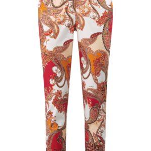Le pantalon avec zip invisible devant Laura Biagiotti Roma multicolore taille 36