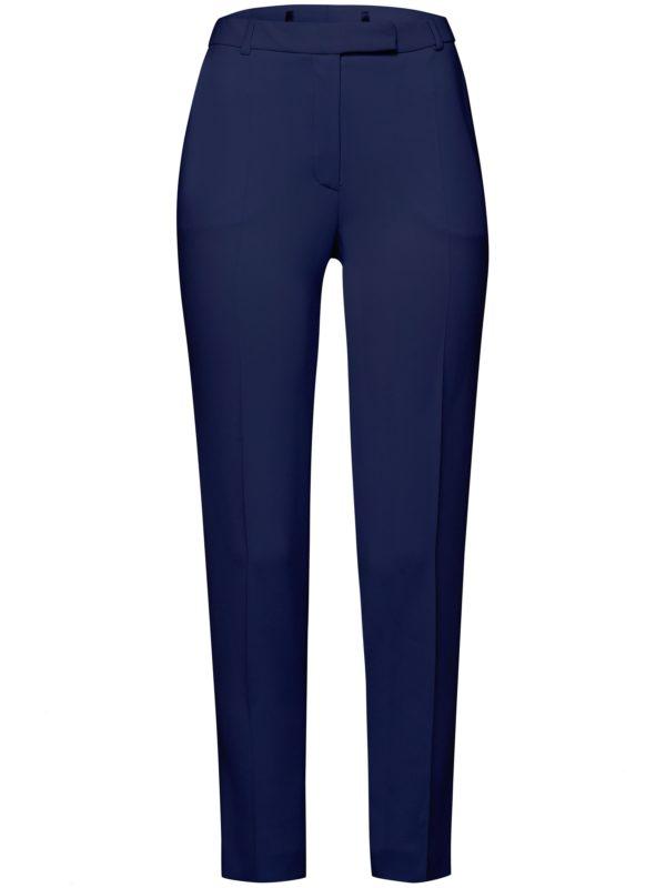Le pantalon longueur chevilles infroissable Uta Raasch bleu taille 38