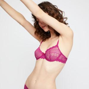 Soutien-gorge corbeille sans coques - CHERIE CHERIE - 90B - Violet - Femme - Etam