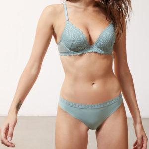 Soutien-gorge n°2 - push-up plongeant - CHERIE CHERIE - 85D - Vert - Femme - Etam
