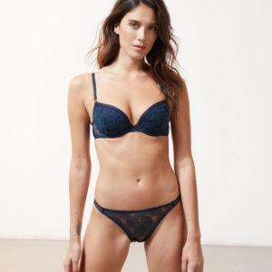 Soutien-gorge n°5 - coques fines - ARCHIPEL - 95B - Bleu - Femme - Etam