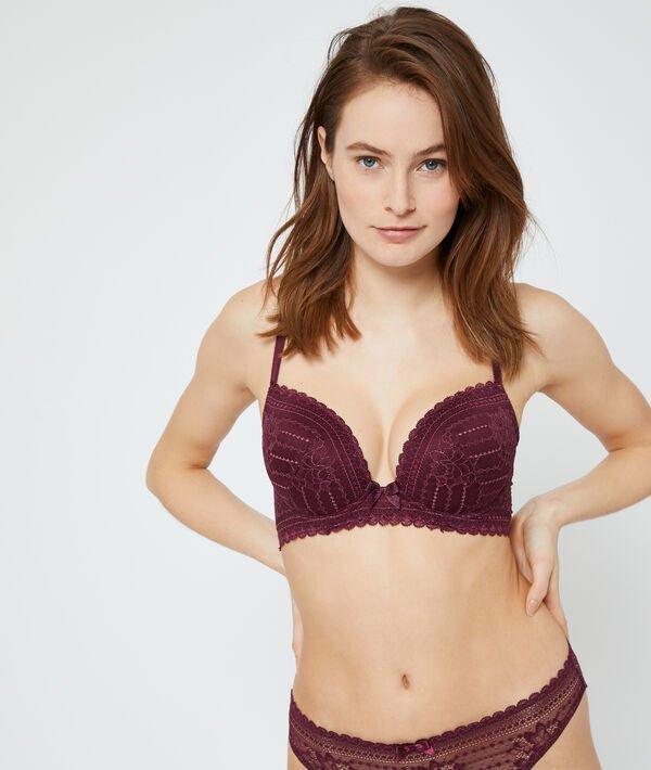 Soutien-gorge n°5 - coques fines - PANAMA - 85D - Violet - Femme - Etam