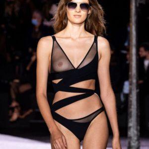 Soutien-gorge n°8 - triangle en tulle sans armatures - PURE MESH - 85D - Noir - Femme - Etam