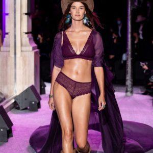 Soutien-gorge n°8 - triangle sans armatures, pads amovibles - CHERIE CHERIE - 85D - Violet - Femme - Etam