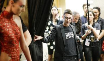 Comics, cubisme et paillettes, Christian Siriano en pleine forme à la Fashion Week.
