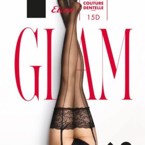 Bas dentelle couture dos - BAS COUTURE DENTELLE - S - Noir - Femme - Etam