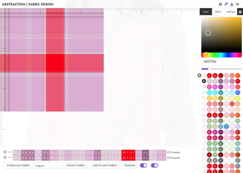 Abstraktion tissu avec variante de couleurs